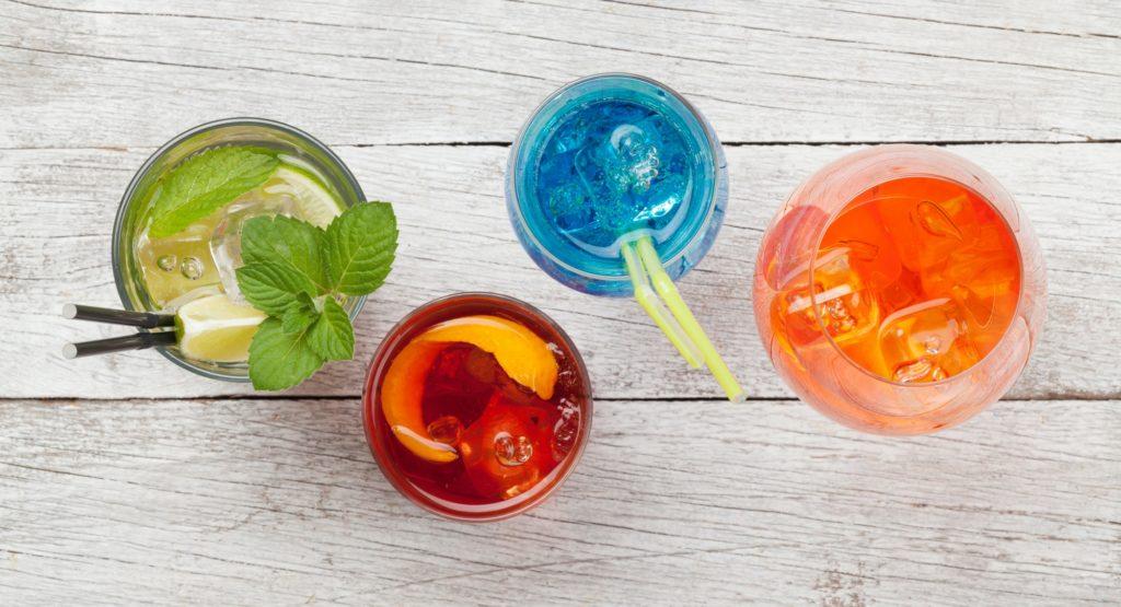 Four cocktail glasses