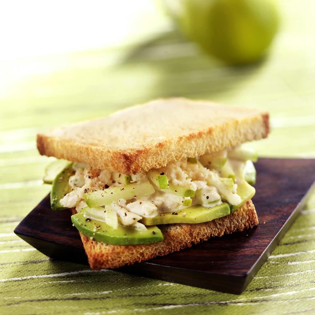 Recette 1 : Sandwich crabe et avocat