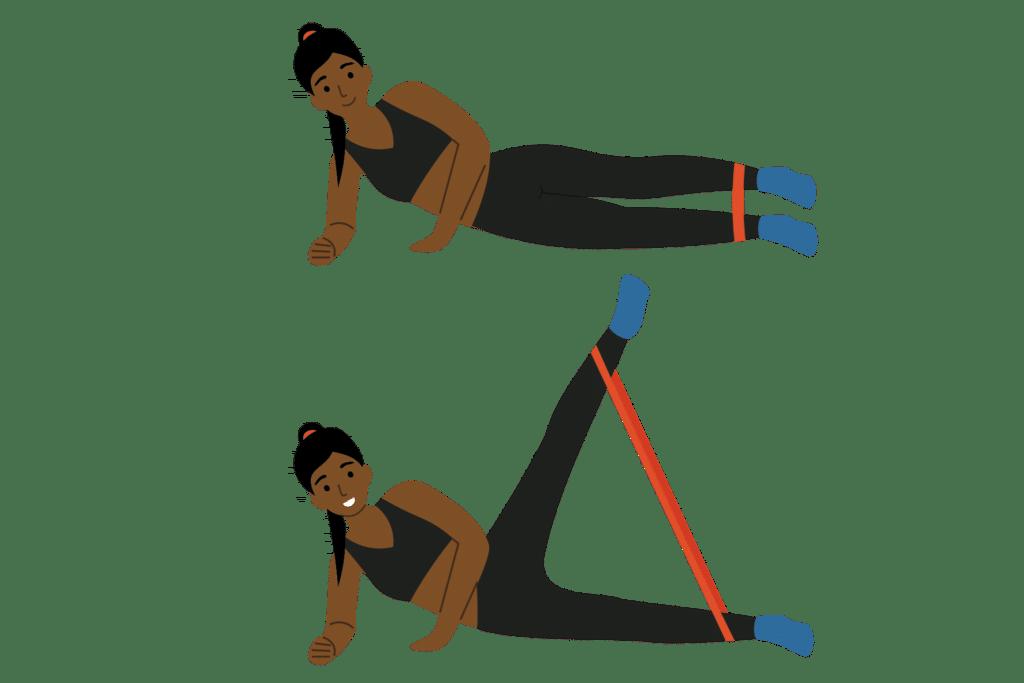 2. Levé de jambe latéral (side lying leg raise)
