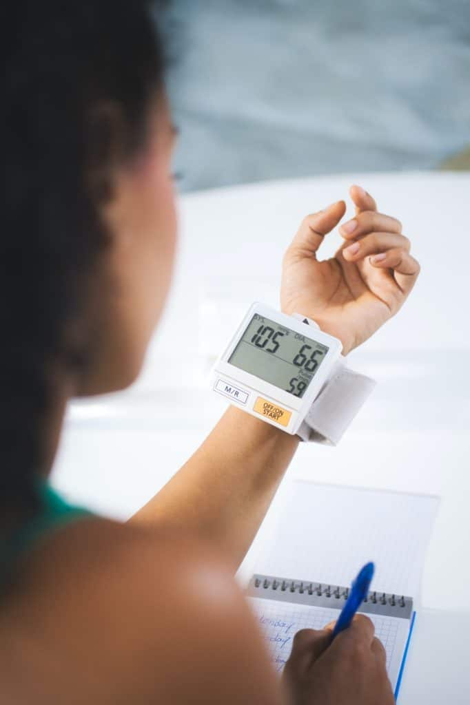 Young Black Woman Measuring Blood Pressure