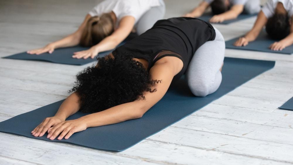 yoga anform magazine L'enfant, balasana