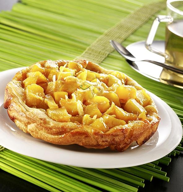 tarte tatin mangue gingembre revisitee recette anform magazine