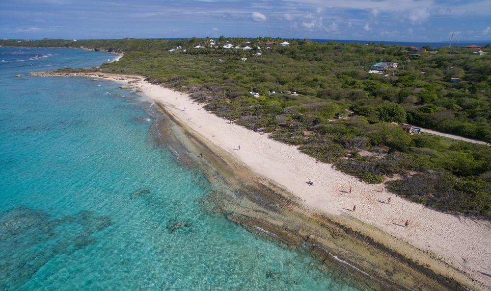 Vue aérienne de Saint-François, Guadeloupe, plage, anform